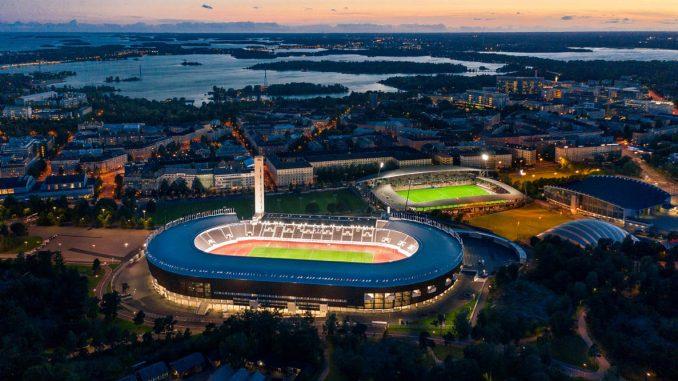 Helsingin Olympiastadion avattiin mittavan peruskorjauksen jälkeen elokuussa 2020. Hankkeessa maan alle louhittiin uusia tiloja kahteen kerrokseen. Kuva Matti Immonen.