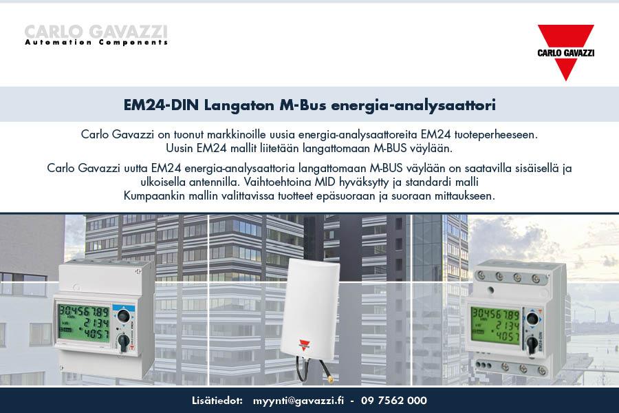 Carlo Gavazzin langaton M-Bus energia-analysaattori =>