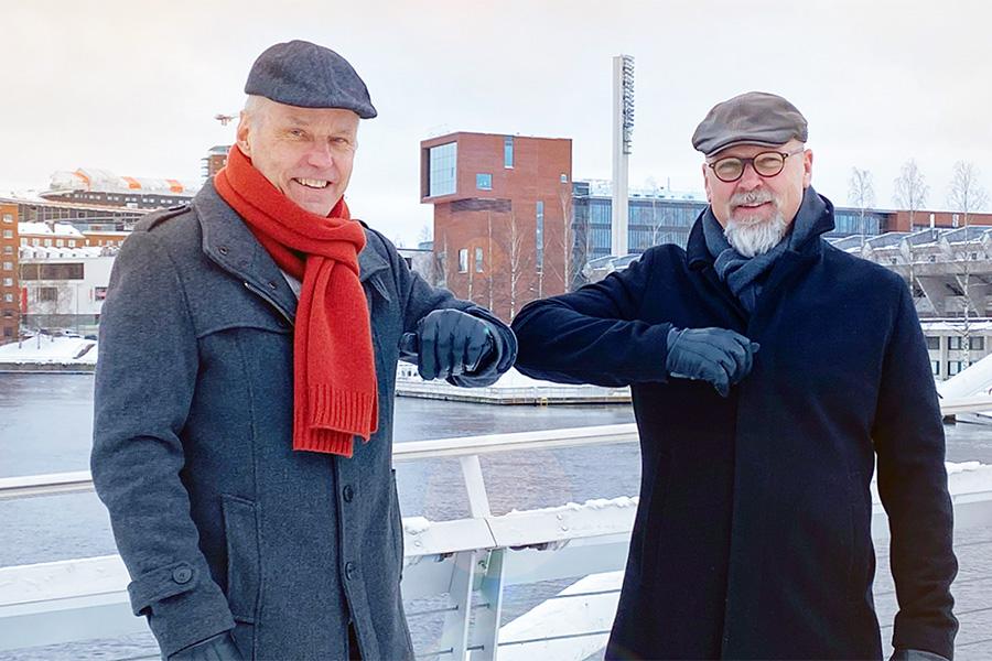 Keijo Pousi ja Risto Suojanen. Kuva Granlund.