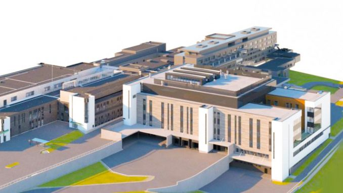 Uuteen, lähes 20 000 neliömetrin kokoiseen rakennukseen sijoitetaan suurin osa sairaalan osastopaikoista ja laboratorioista.