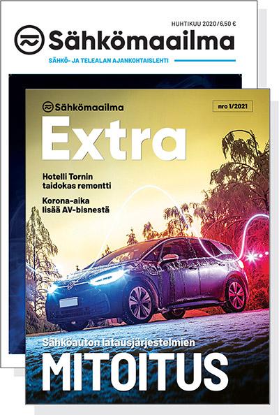 Lue Sähkömaailma Extran näytenumero näköislehtenä =>