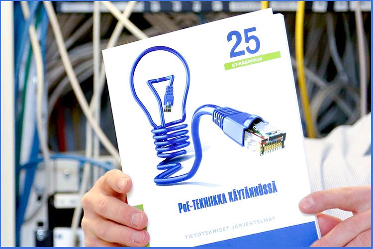 PoE-tekniikka käytännössä -kirja on myynnissä Sähköinfon verkkokaupassa.