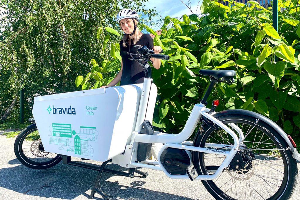 Bravida ottaa sähköavusteiset kuljetuspyörät käyttöön Helsingissä, Göteborgissa, Kööpenhaminassa, Tukholmassa ja Århusissa. Kuva Bravida.