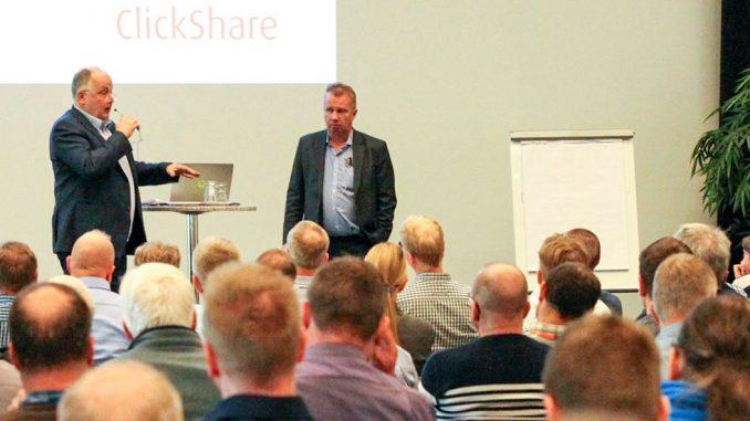 Timo Iholin ja Esa TiainenTukesin Timo Iholin ja STULin Esa Tiainen vuoden 2019 Käytön johtajien teemapäivillä Vantaalla. Tilaisuus järjestetään jälleen 13.10, tällä kertaa huomattavasti edellistä kertaa väljemmin turvavälein.